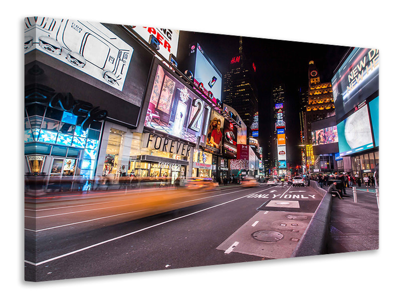 Canvas print Times Square at night
