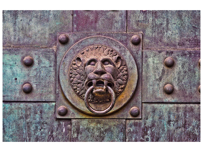 Canvas print Antique door knocker XL