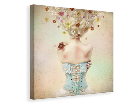 Canvas print Girl Of The Flower Garden