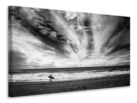 Tableau sur toile The Loneliness Of A Surfer