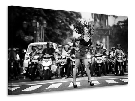 Canvas print Ignore It, Enjoy Poses On The Streets