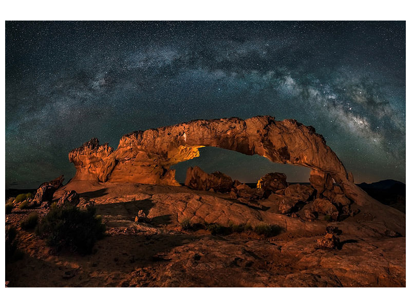 Tableau sur toile Milky Way Over The Sunset Arch