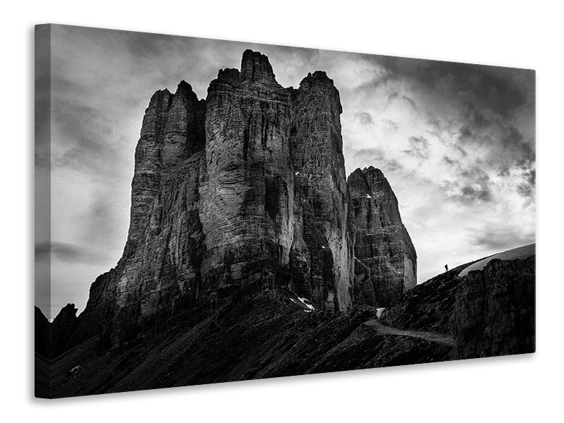 Canvas print Tre Cime Tear Of Snow