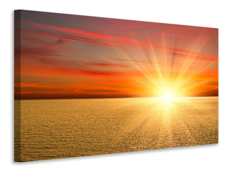Leinwandbild Der Sonnenuntergang
