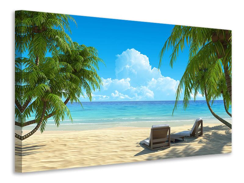 Leinwandbild Strandparadies