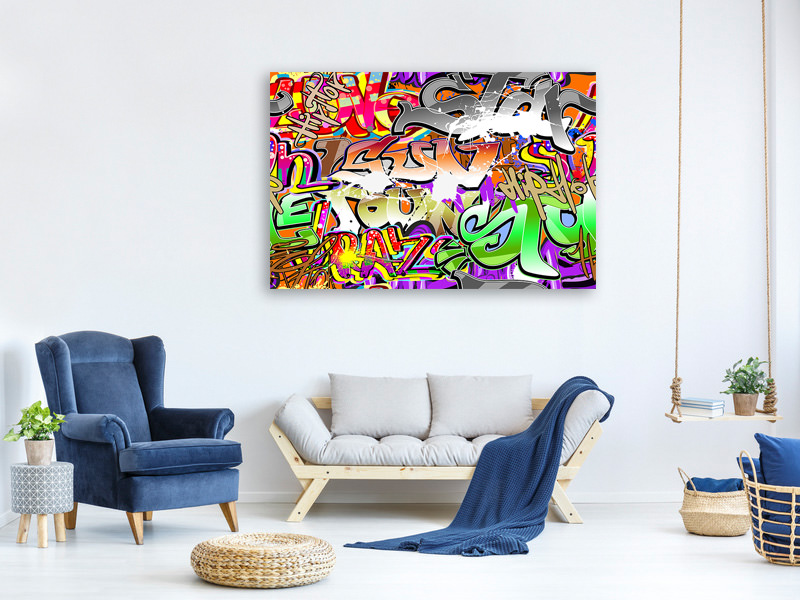 Canvas print Writings
