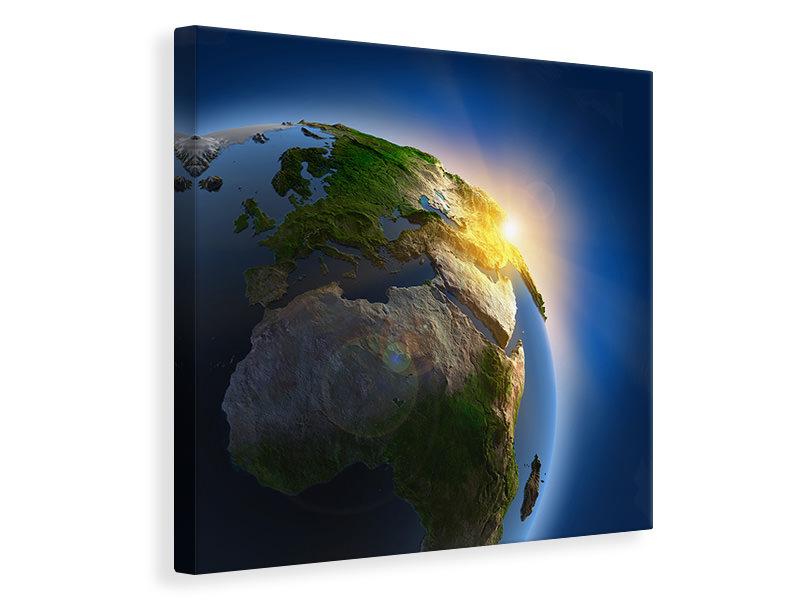 Leinwandbild Sonne und Erde