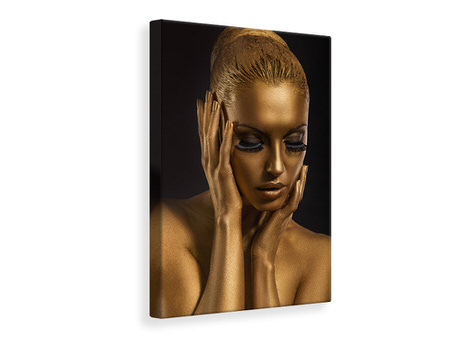 Canvas print Gold-Face