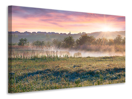 Canvas print Sunset On hill