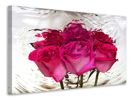 Canvas print The Rose Reflection