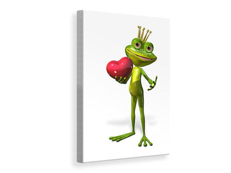 Canvas print Frog King