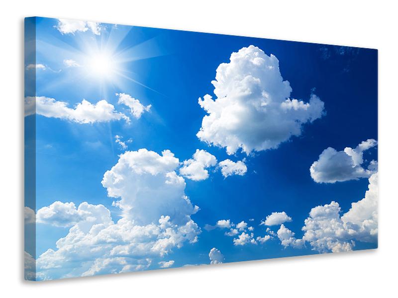 Leinwandbild Himmelblau