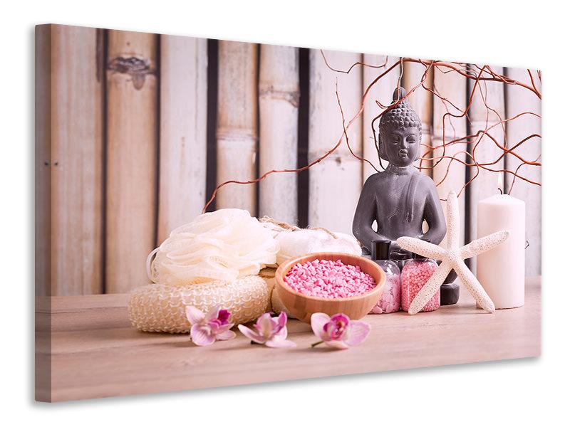 Leinwandbild Spa + Buddha