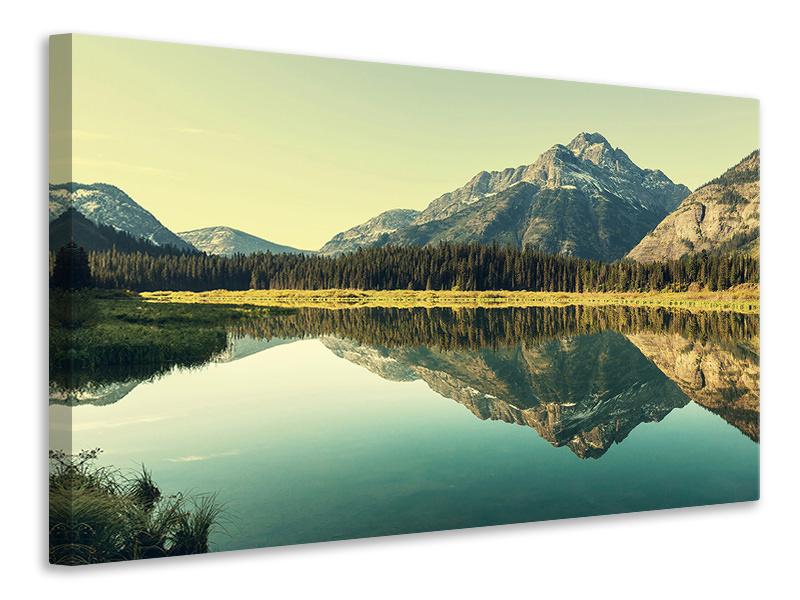 Leinwandbild Der Bergsee