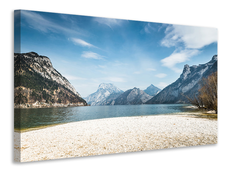Leinwandbild Der idyllische Bergsee