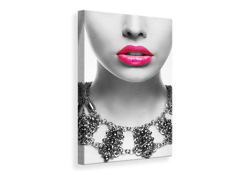 Leinwandbild Rote Lippen