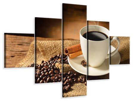 5 Piece Canvas Print Coffee Break