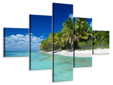 5 Piece Canvas Print The Dream Island