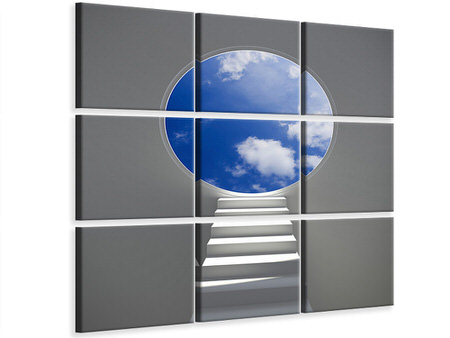 9 Piece Canvas Print Stairway To Heaven
